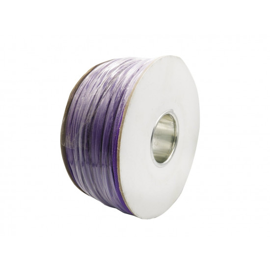 Braided Cable Sleeve PET - 6mm Expandable - Purple - 656Feet Spool