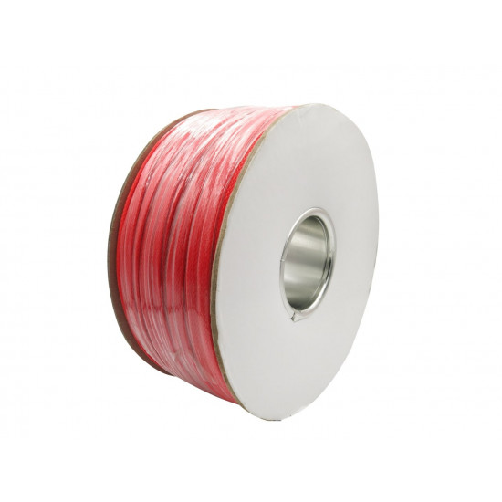 Dragon Switch | Braided Cable Sleeve PET - 6mm Expandable - Red - 656Feet Spool
