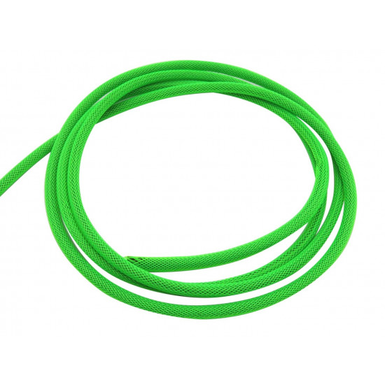 Braided Cable Sleeve PET - 6mm Expandable - Neon Green - 656Feet Spool
