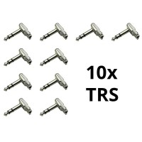 Squareplug SP550-S Low Profile Flat TRS - Set of 10