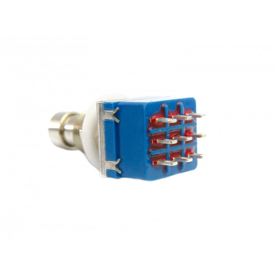 Dragon Switch | 3PDT Latching Solder Lug Footswitch Blue