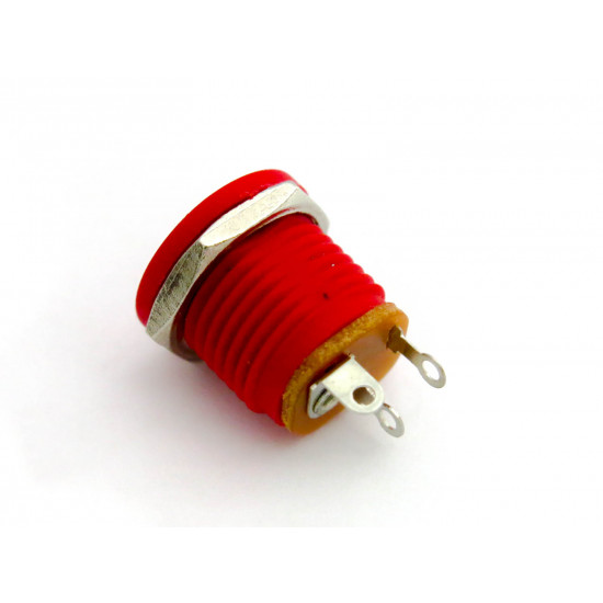 DC Power Jack 2.1mm with board - RED
