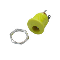 DC Power Jack 2.1mm with board - Yellow