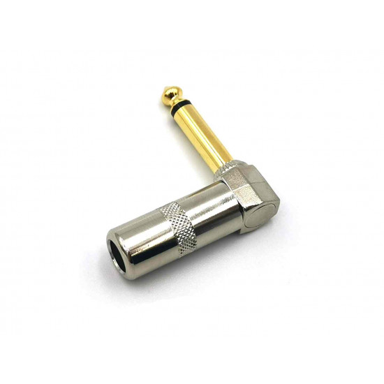 TS Right Angled Mono Plugs 1/4 Gold tip